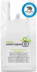 Пакет майка с лого аптек Микстурка, ПНД