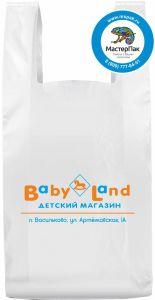 Пакет майка для детского магазина Baby Land