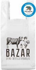 Биоразлагаемый пакет майка с логотипом Bazar