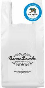 Пакеты майка для кондитерской-кафе Bonne Bouche, ПНД, 40 мкм