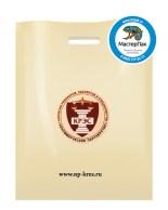 ПВД пакет, 30*40, толщина 70 мкм, с вырубной ручкой и логотипом КРЭС
