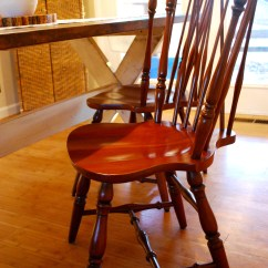 Diy Painted Windsor Chairs Wishbone How To Paint Black Delight Cherry Wood