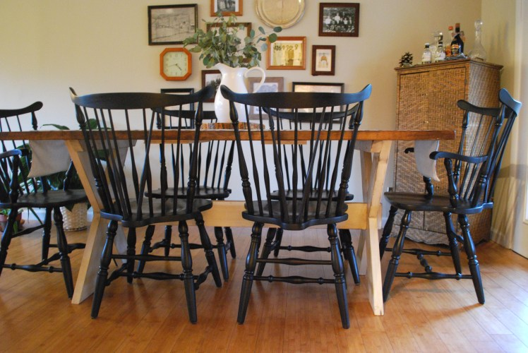 how to paint windsor chairs black  delight