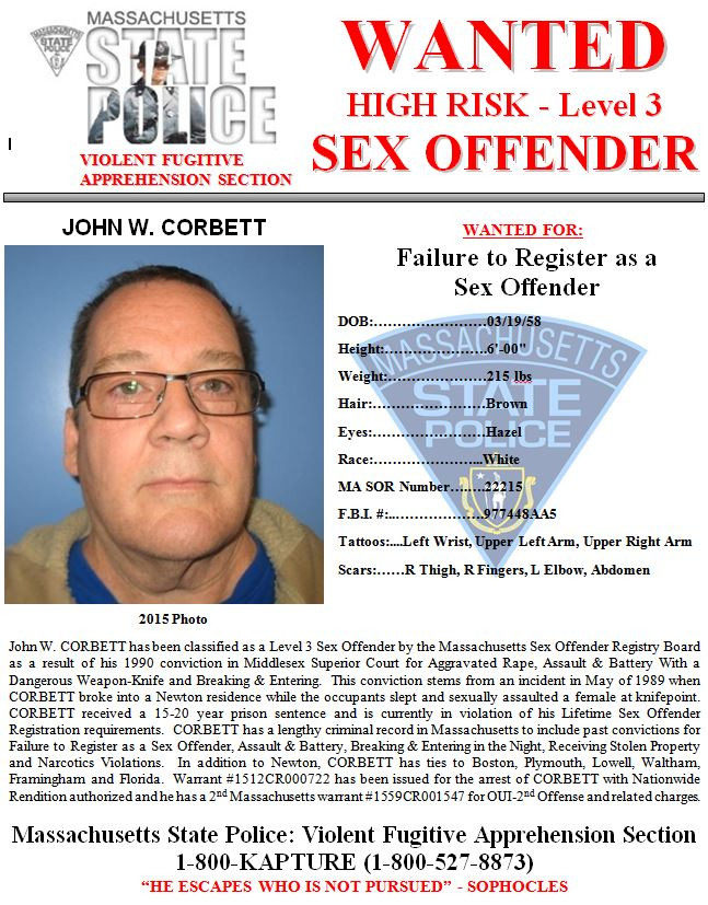 ... State Police Violent Fugitive Apprehension Section yesterday added  another new suspect to the department's list of Most Wanted Sex Offenders.