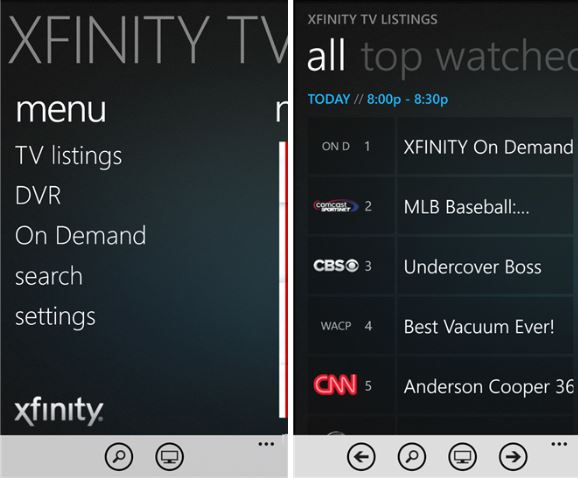 Xfinity Tv Remote Walgreens And Marketwatch Apps Now
