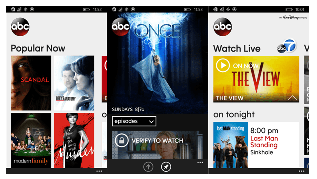 Catch Your Favorite TV Shows Live With The New WATCH ABC App On Windows Phone - MSPoweruser