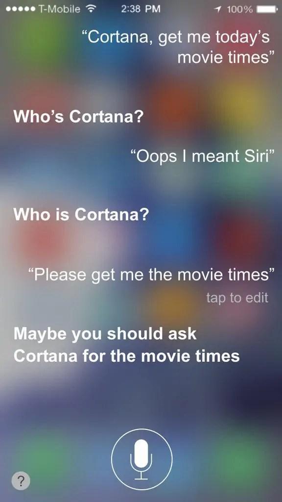 Apple's Siri Is Jealous Of Microsoft's Cortana - MSPoweruser