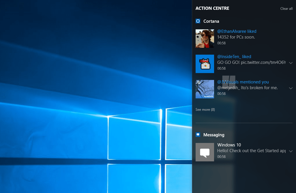 Windows 10s Notification Syncing now available for