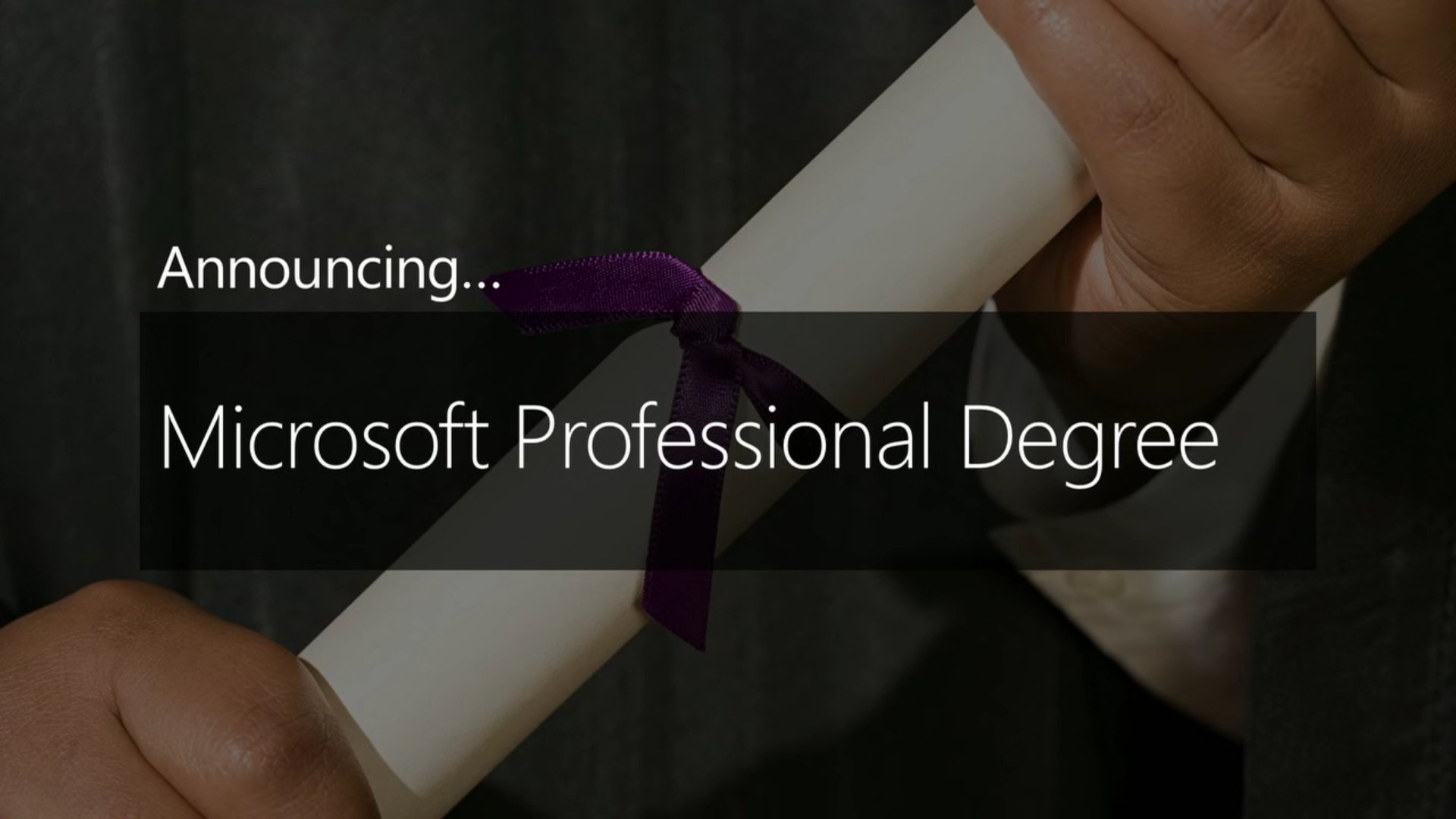 Microsoft Announces New Microsoft Professional Degree