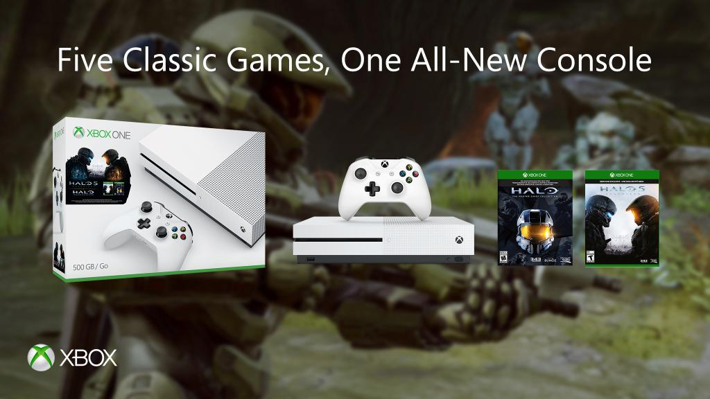 Deal Xbox One S Halo Collection 1TB Bundle A Free Game