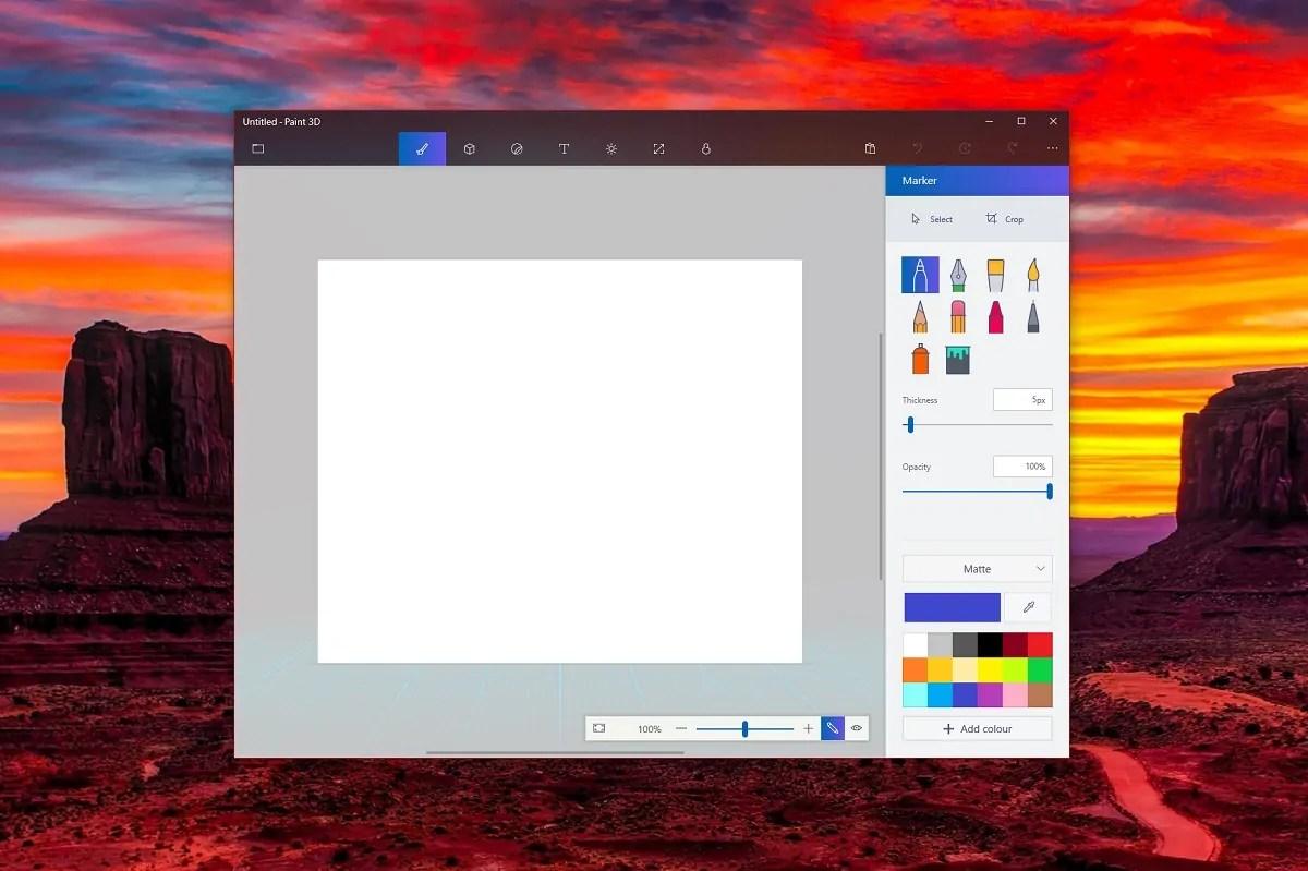 New Paint 3D app