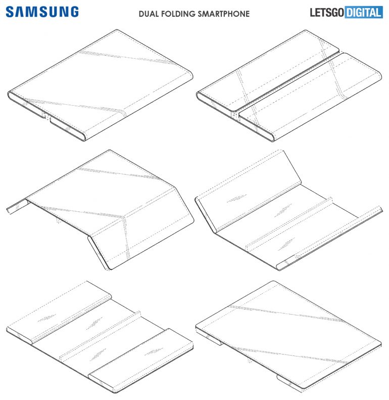Samsung's new patent shows a dual-screen foldable phone