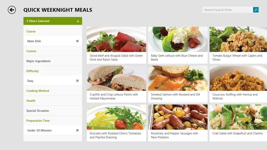 Microsoft Details New Windows 81 Bing App Food & Drink