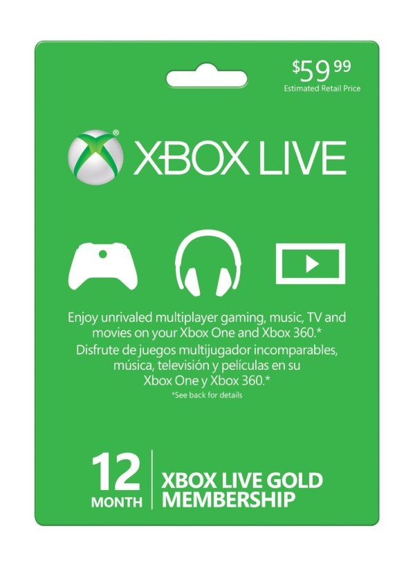 Giveaway Xbox Live 12 Month Gold Membership Card Worth