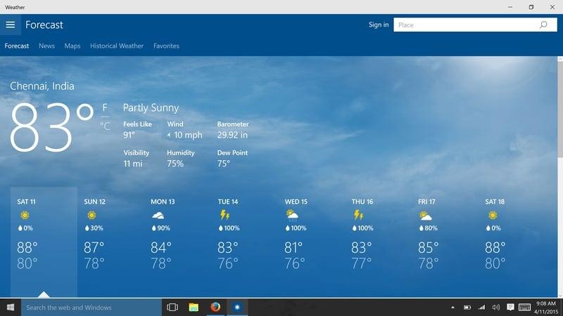 Msn Weather Forecast - Idee per la decorazione di interni - coremc us