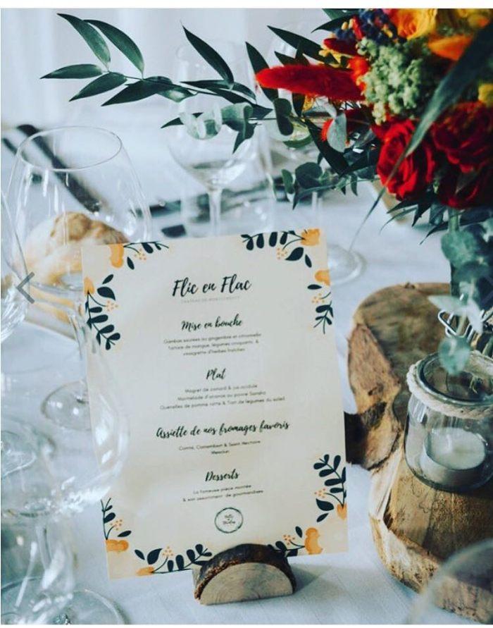 Menu champêtre mariage