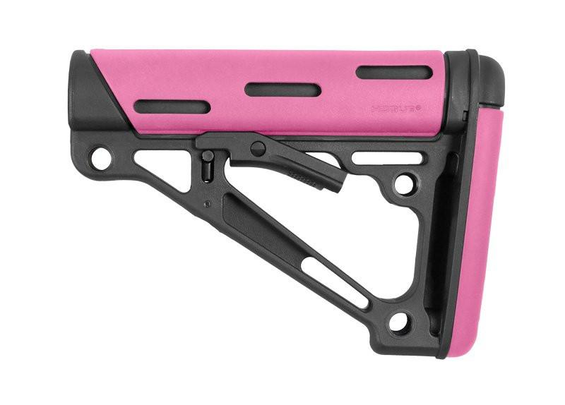 Hogue AR-15/M-16 OverMolded Collapsible Buttstock - Fits Commercial Buffer Tubes - (Options)