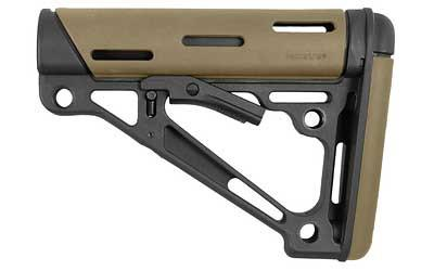 Hogue AR-15/M-16 OverMolded Collapsible Buttstock - Fits Mil-Spec Buffer Tubes - (Options)