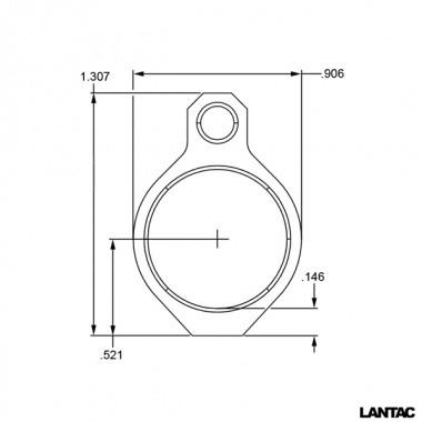 LanTac GB750-S Ultra Low Profile Gas Block