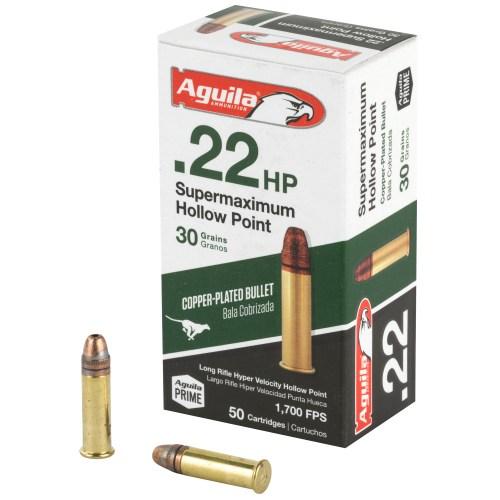 Aguila Ammunition 22LR 30GR Supermax Hollow Point 50 Round Box