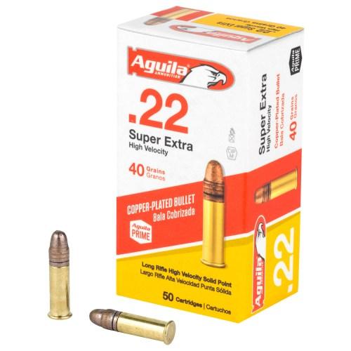 Aguila Ammunition 22LR 40GR Super Extra Solid Point 50 Round Box - MSR Arms