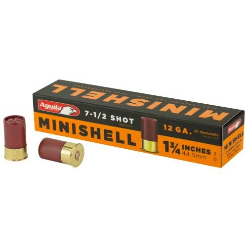 "Aguila Ammunition 12GA 1.75"" #7.5 Minishell 20 Round Box - MSR Arms"