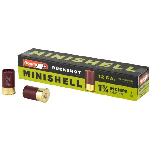 Aguila Ammunition 12GA 1.75″ #4 Buckshot Minishell 20 Round Box - MSR Arms