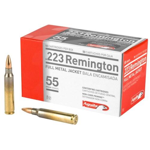 Aguila Ammunition .223 Remington 55GR FMJ 50 Round Box - MSR Arms