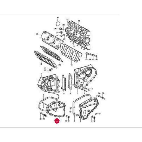 Porsche 911 3.2 Chain Cover RED 93010506308 93010506410