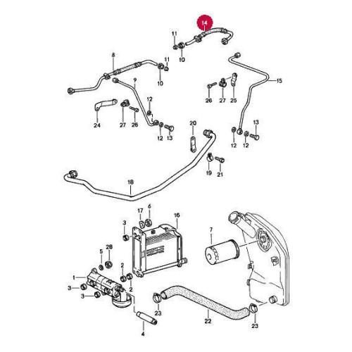 Porsche 911 930 Carrera Chain Tensioner Oil Line 93010734811