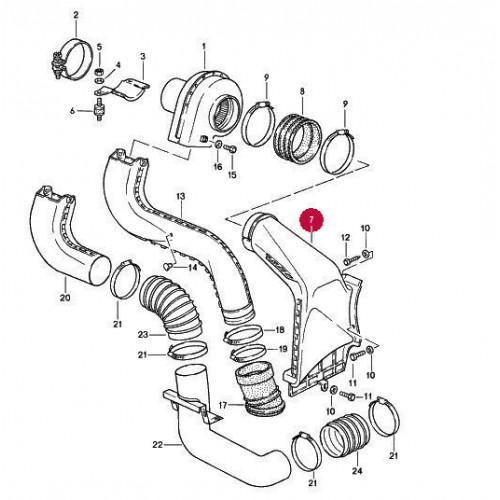 Porsche 911 Engine Air Duct 3.2 New 93021132301