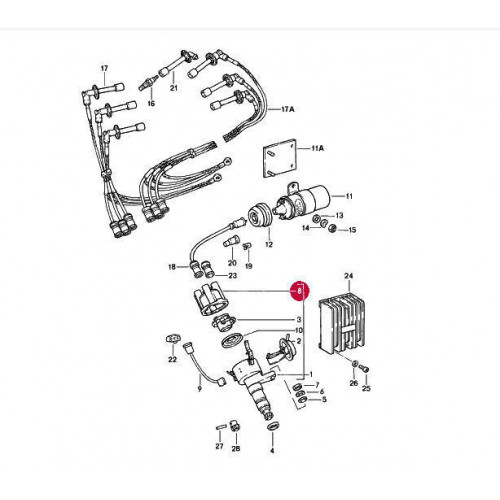 Porsche 911 RSR Twin Plug ORIGINAL Bosch Distributor Cap