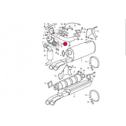 Porsche 930 Crossover Exhaust Pipe 93011100305