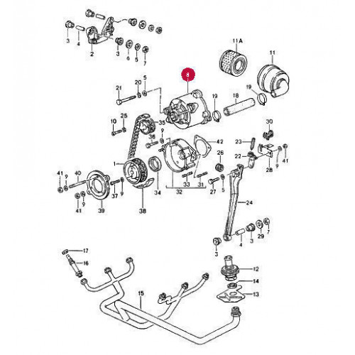 Porsche 930 Smog Pump 93011311401
