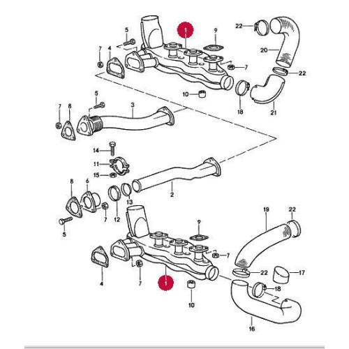 Porsche 930 Turbo Heat Exchangers Set 2 93021103301 LATE