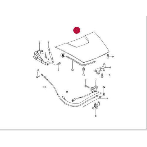 Porsche 986 Boxster Deck Lid Trunk 98651201102GRV