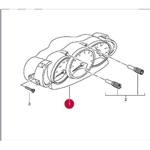 Porsche 986 Boxster Instrument Cluster Aluminium Face