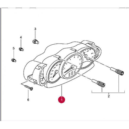 Porsche 996 Instrument Cluster 9966412230170C SS