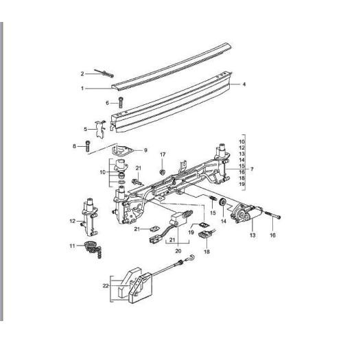 Porsche 986 Boxster Rear Spoiler Actuator 98651211700