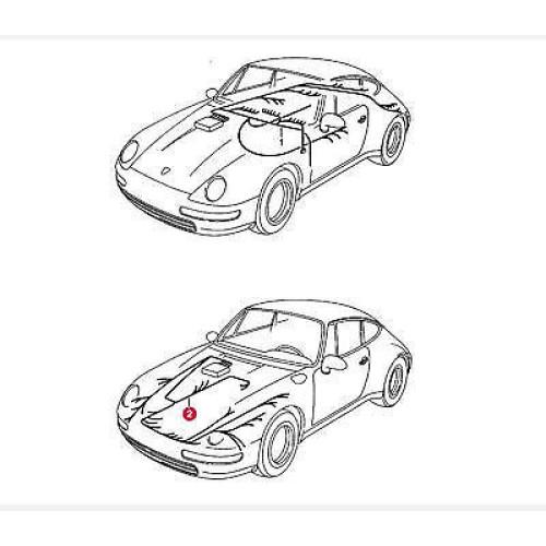 Porsche 993 Front Trunk Wiring Harness Litronic 99361205506