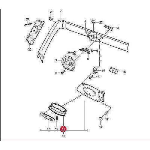 Porsche 996 986 Boxster Visor Repair Kits 9967319030101C TWO