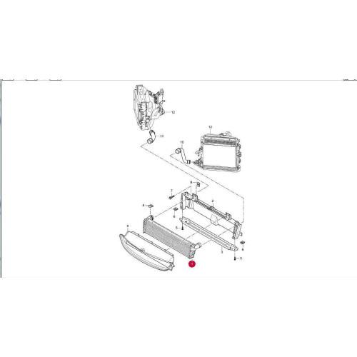 Porsche 997 987 Center Radiator KIT 99710603702