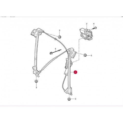 Porsche 997 987 Window Regulator 98754207601
