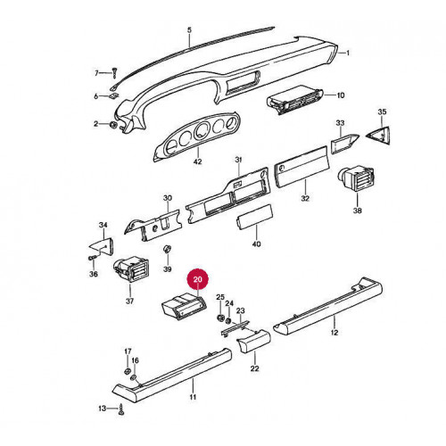 Porsche 911 930 Black Leather Ash Tray 91155210100 91155205001