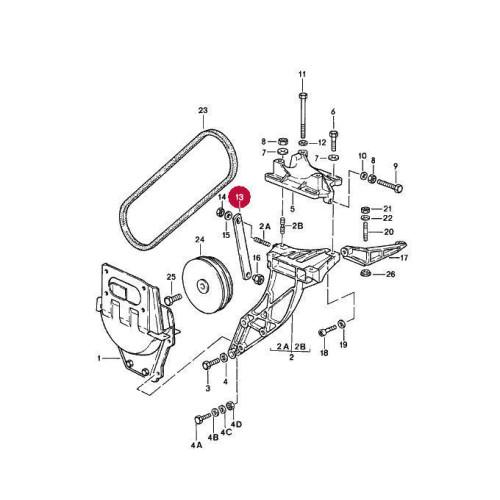Porsche 911 AC Compressor Bracket 91112612402