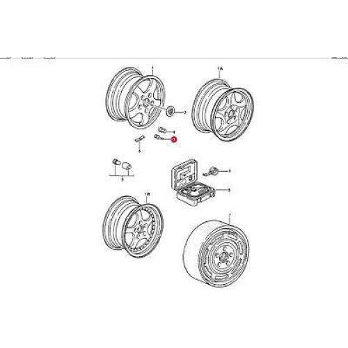 Porsche 993 Turbo Wheel Hollow Valve Stem 99336107300