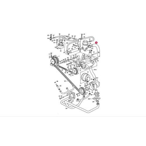 Porsche 930 Emmission Hose 93011318200