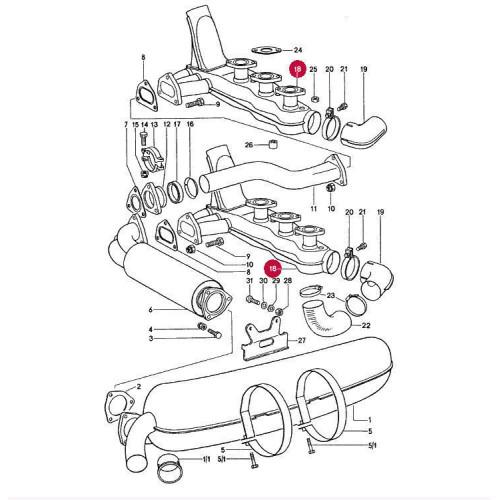 Porsche 911 SC 3.0 Heat Exhangers 93021102501