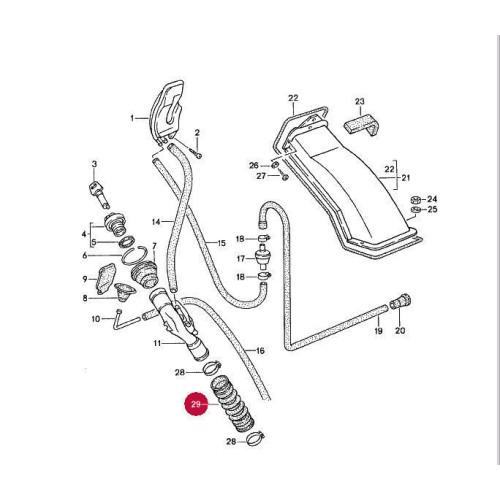 Porsche 968 944 Fuel Gas Filler Neck Hose 94420131900