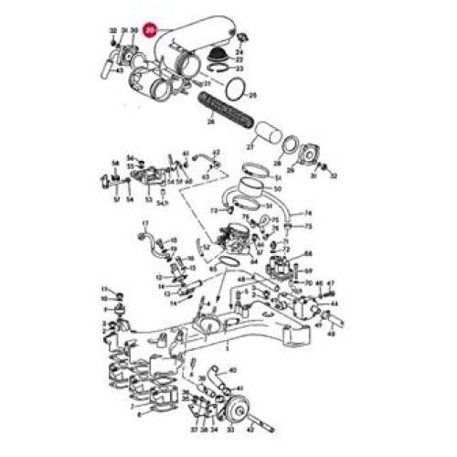 Porsche 930 EArly 75 to 77 USA Recirculating Valve Housing